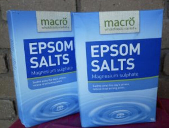 A packet of epsom salts for daylilies