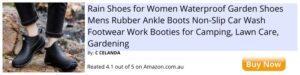 black rain waterproof garden shoes